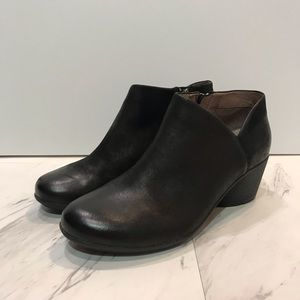 Dansko Black Leather Booties